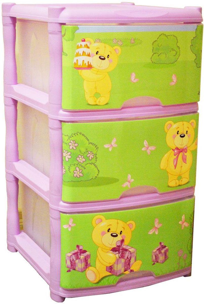 Little Angel Детский комод Bears Tutti 3 ящика цвет лавандовыйLA4713LVВместительный, современный и удобный дизайн комода идеально подойдет для детской комнаты. Сглаженные углы и облегченная конструкция комода безопасны даже для самых активных малышей. Спокойные пастельные цвета комода станут прекрасным дополнением для детской комнаты.