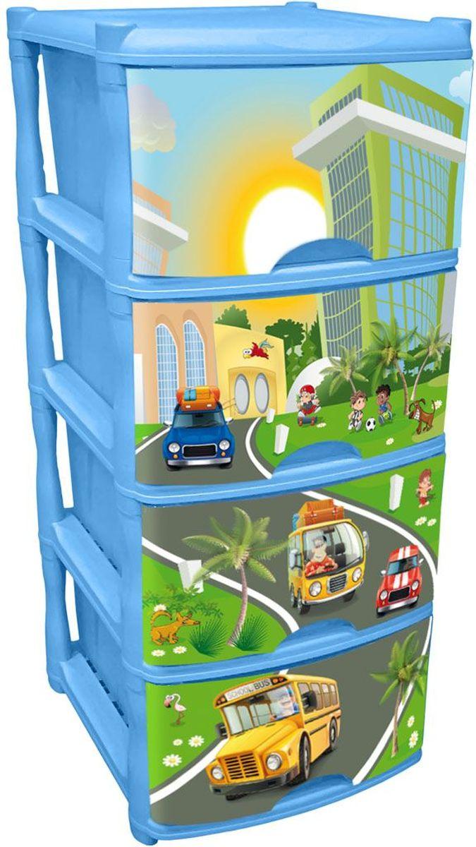 Little Angel Детский комод City Cars Tutti 4 ящика цвет голубой небесныйLA4714BSОчаровательный дизайн с машинками в солнечном городе создан специально для малышей. Разные машинки понравятся детям и их родителям и помогут изучить мир. Новый комод Tutti серии City Cars выполнены в голубом небесном цвете. Каждый ящик комода имеет свой уникальный декор, а вместе они составляют неповторимую композицию. Сглаженные углы и облегченная конструкция комода безопасна даже для самых активных малышей.