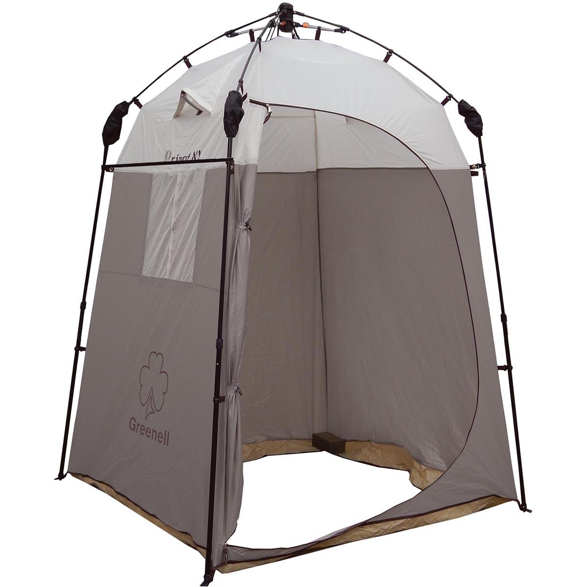 "Тент-шатер с автоматическим каркасом Greenell ""Приват XL"", цвет: коричневый"