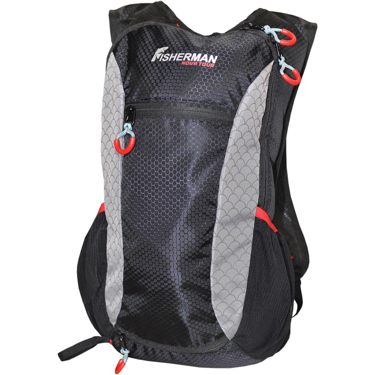 Рюкзак для рыбалки Nova Tour Миноу PRO, цвет: черный, 9 л95736-924-00Сверхлегкий рюкзак для активной рыбалки на легке! Внутри рюкзака можно разместить пару коробок с приманками и еще останется место под легкую ветровку или термос. На фронтальной части имеется специальное отделение под второй спиннинг или подсачек, чтобы не занимать руки.