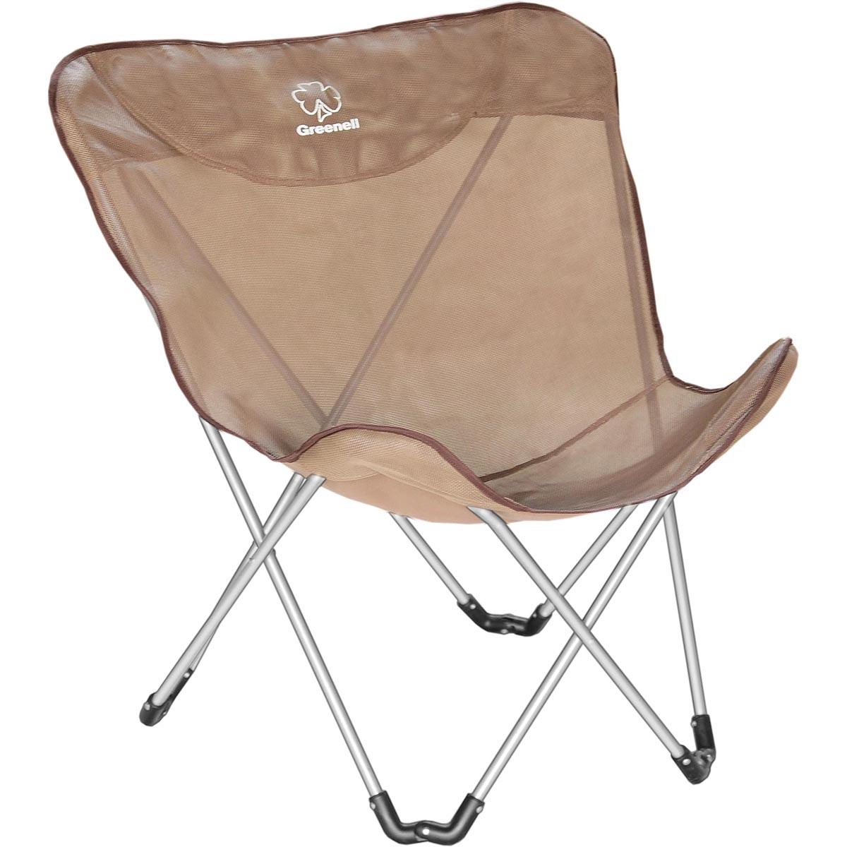 Кресло складное Greenell Баттерфляй FC-14, цвет: коричневый95796-232-00Компактная универсальная модель кресла, быстро устанавливается, хорошо вентилируется. Материал устойчивый к ультафиолету и быстро сохнет. Макс нагрузка: 120 кг