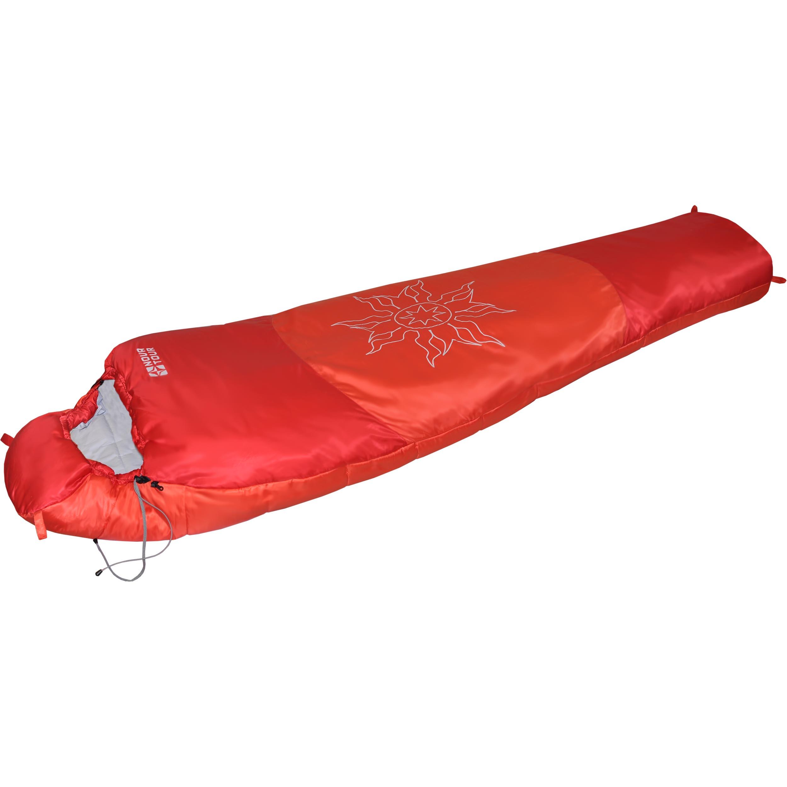 Спальный мешок Nova Tour Ямал -30 XL V2, цвет: красный, правосторонняя молния95420-001-RightСпальный мешок конструкции - кокон и синтетическим наполнителем для использования при очень низких температурах. Утягивающийся капюшон, шейный воротник - сохраняют тепло. Двухзамковая молния позволяет состегнуть два спальных мешка левого и правого исполнения в один двойной. Компрессионный мешок в комплекте.