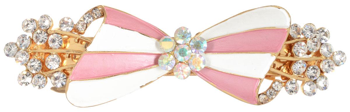 Заколка для волос Migura, цвет: золотой, белый, розовый. NOBZ1366