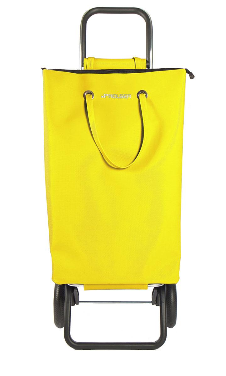 Сумка хозяйственная Rolser, на колесиках, цвет: amarillo, 50 лSUP001 amarilloАлюминиевая тележка для покупок с 2 колесами, диаметр колес 16,5 см. Можно использовать как ручную кладь в самолете и носить отдельно от рамы, есть внутренний карман, сумка закрывается на молнию. Легкое крепление к раме на липучке. 2 типа сложение: двойное сложение рамы и передней подставки, занимает минимальное место в сложенном виде при хранении при хранении, имеет специальное устройство для прикрепления к тележке супермаркета. Объем сумки 50 л, с застёгнутой молнией,каркас алюминий, колеса резина EVA, ткань полиэстер, влагоустойчивая. Тележка складывается. Рекомендованная нагрузка 25 кг, чистка ручная или химчистка.