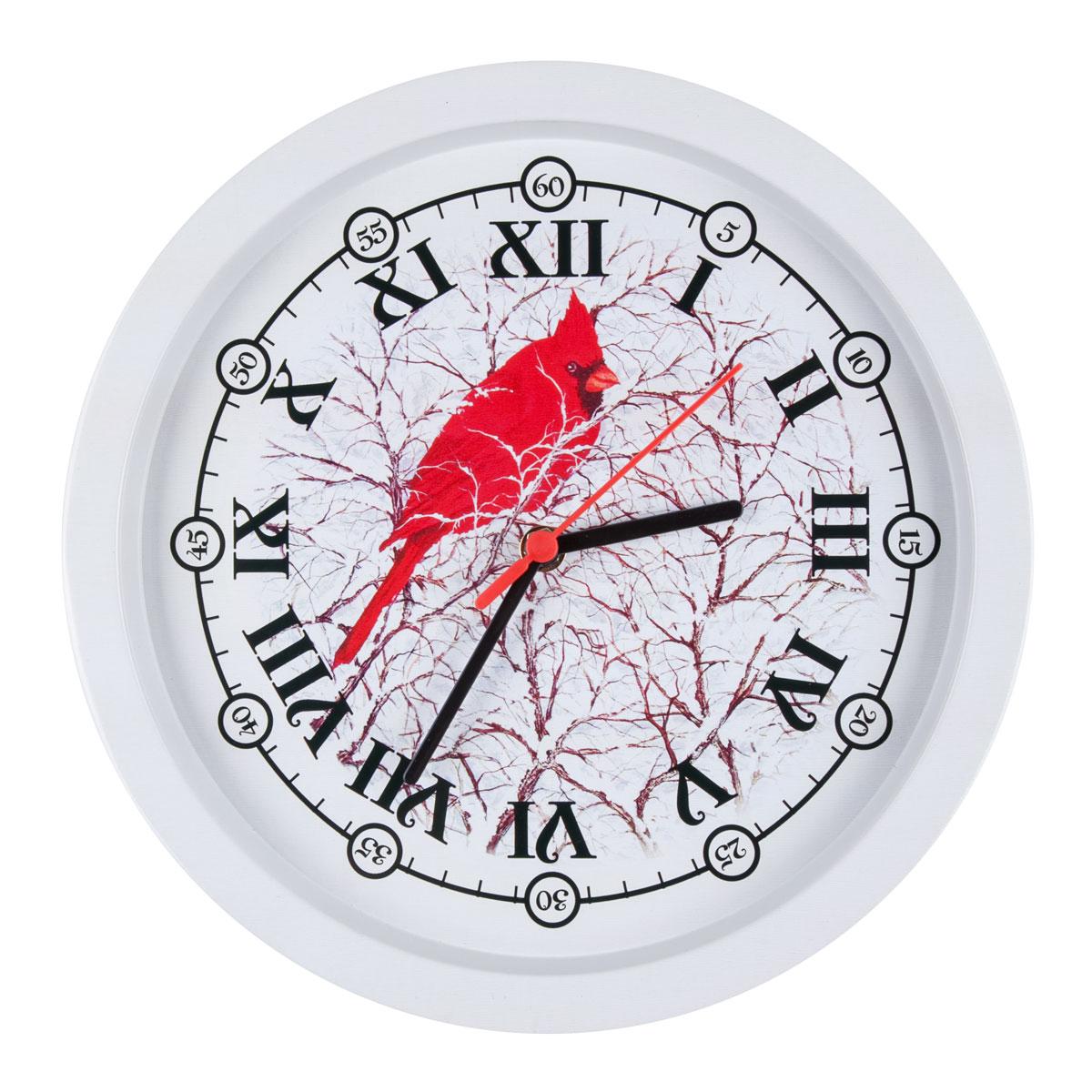 Часы настенные Miolla ПопугайCH002Оригинальные настенные часы круглой формы выполнены из стали. Часы имеют три стрелки - часовую, минутную и секундную и циферблат с цифрами. Необычное дизайнерское решение и качество исполнения придутся по вкусу каждому. Часы работают от 1 батарейки типа АА напряжением 1,5 В.