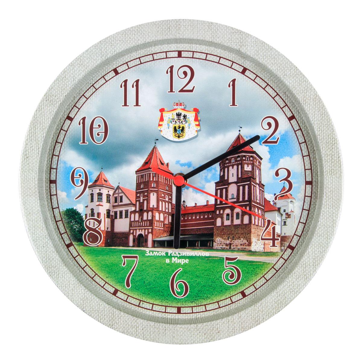 Часы настенные Miolla ЗамокCH005Оригинальные настенные часы круглой формы выполнены из стали. Часы имеют три стрелки - часовую, минутную и секундную и циферблат с цифрами. Необычное дизайнерское решение и качество исполнения придутся по вкусу каждому. Диаметр часов: 33 см. Часы работают от 1 батарейки типа АА напряжением 1,5 В.