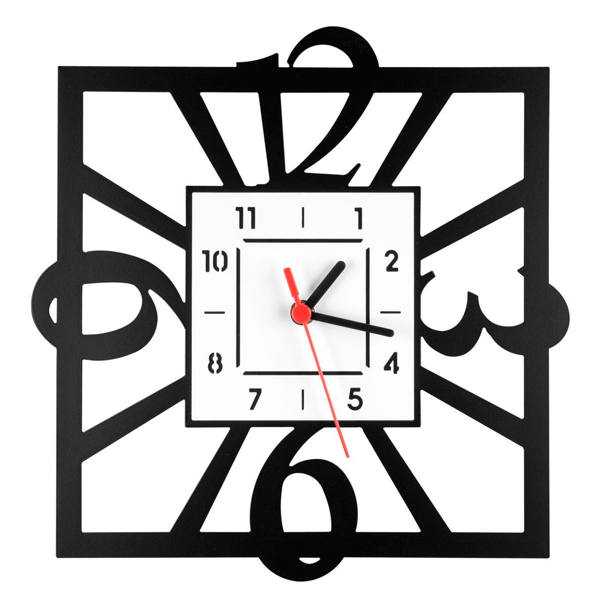 Часы настенные Miolla Квадратные, цвет: белый, черныйCH012Оригинальные настенные часы круглой формы выполнены из стали. Часы имеют три стрелки - часовую, минутную и секундную и циферблат с цифрами. Необычное дизайнерское решение и качество исполнения придутся по вкусу каждому. Оформите свой дом таким интерьерным аксессуаром или преподнесите его в качестве презента друзьям, и они оценят ваш оригинальный вкус и неординарность подарка.