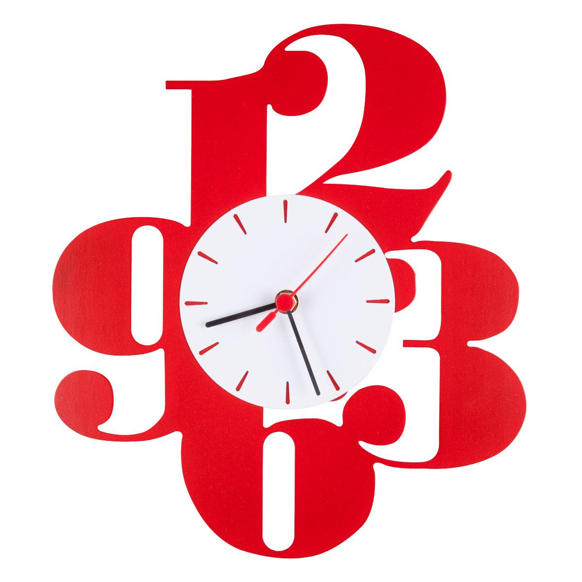 Часы настенные Miolla Цифры, цвет: красныйCH013Оригинальные настенные часы круглой формы выполнены из стали. Часы имеют три стрелки - часовую, минутную и секундную и циферблат с цифрами. Необычное дизайнерское решение и качество исполнения придутся по вкусу каждому. Часы работают от 1 батарейки типа АА напряжением 1,5 В.