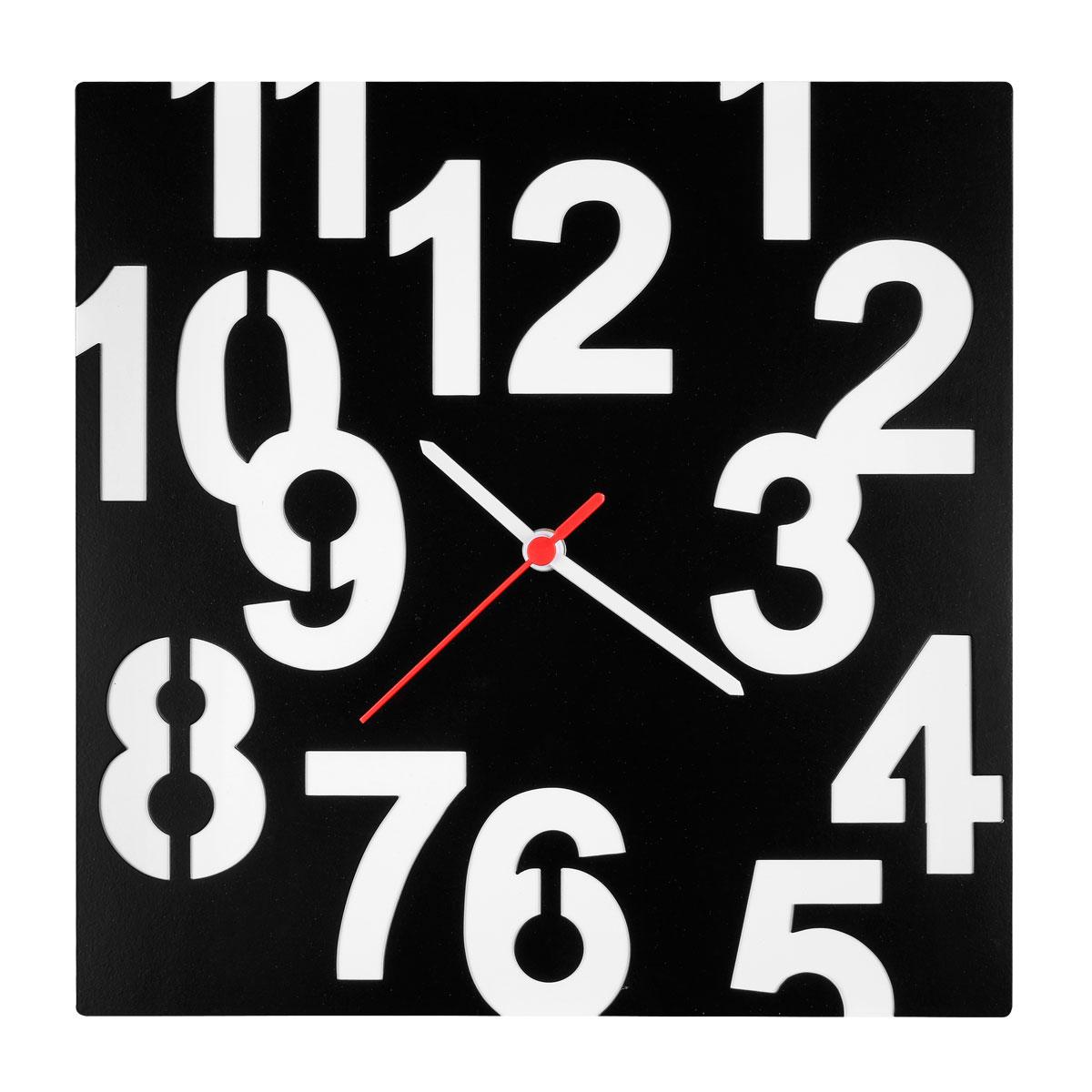 Часы настенные Miolla Квадрат с цифрами, цвет: черный, белыйCH014Оригинальные настенные часы круглой формы выполнены из стали. Часы имеют три стрелки - часовую, минутную и секундную и циферблат с цифрами. Необычное дизайнерское решение и качество исполнения придутся по вкусу каждому. Оформите свой дом таким интерьерным аксессуаром или преподнесите его в качестве презента друзьям, и они оценят ваш оригинальный вкус и неординарность подарка.