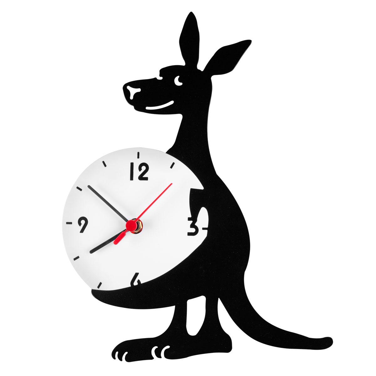 Часы настенные Miolla КенгуруCH016Оригинальные настенные часы круглой формы выполнены из стали. Часы имеют три стрелки - часовую, минутную и секундную и циферблат с цифрами. Необычное дизайнерское решение и качество исполнения придутся по вкусу каждому. Часы работают от 1 батарейки типа АА напряжением 1,5 В.