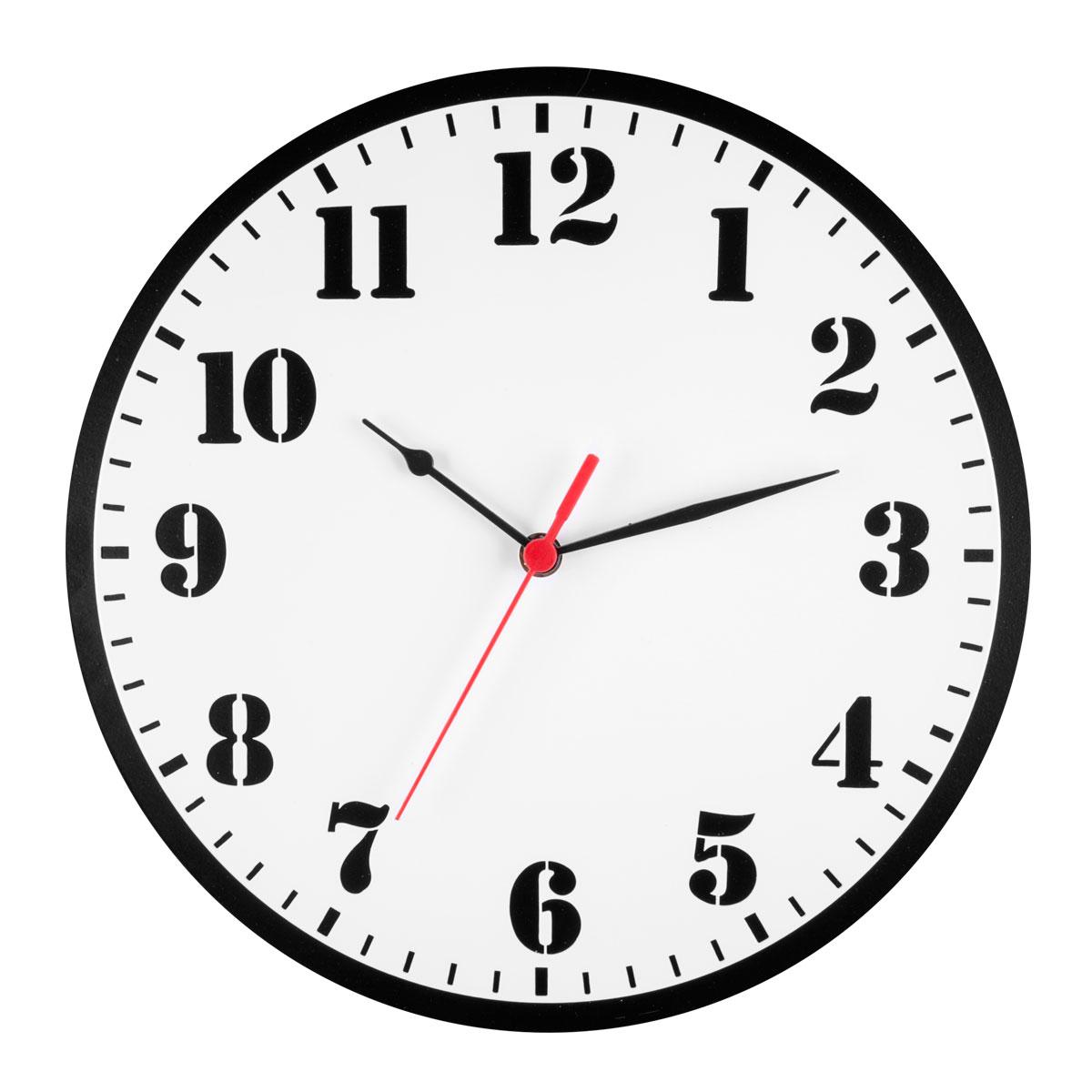 Часы настенные Miolla ЦиферблатCH021Оригинальные настенные часы круглой формы выполнены из стали. Часы имеют три стрелки - часовую, минутную и секундную и циферблат с цифрами. Необычное дизайнерское решение и качество исполнения придутся по вкусу каждому. Часы работают от 1 батарейки типа АА напряжением 1,5 В.