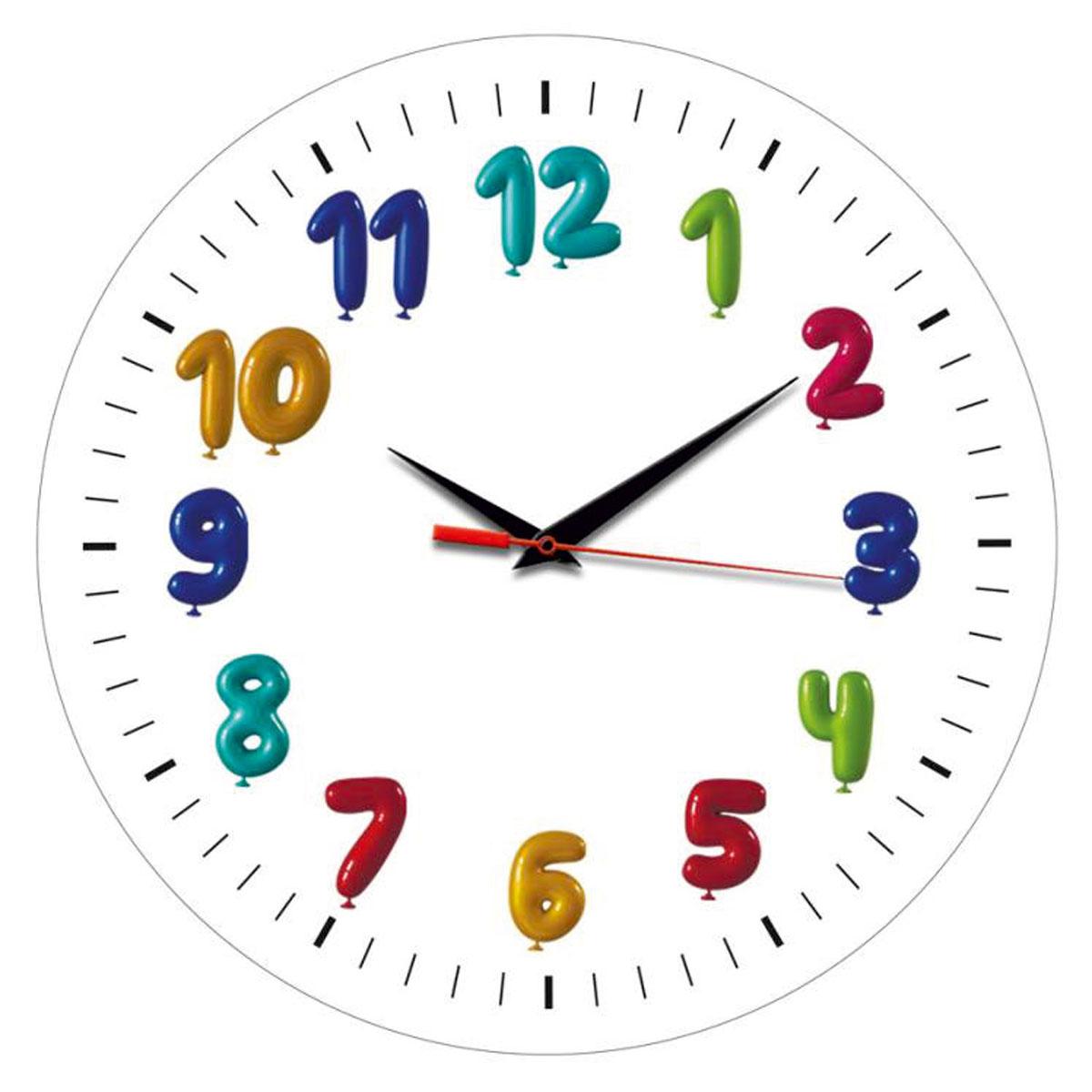 Часы настенные Miolla ДетиСК011 2443Оригинальные настенные часы круглой формы Miolla Дети выполнены из закаленного стекла. Часы имеют три стрелки - часовую, минутную и секундную. Необычное дизайнерское решение и качество исполнения придутся по вкусу каждому. Оформите свой дом таким интерьерным аксессуаром или преподнесите его в качестве презента друзьям, и они оценят ваш оригинальный вкус и неординарность подарка. Часы работают от 1 батарейки типа АА напряжением 1,5 В. Диаметр часов: 28 см.