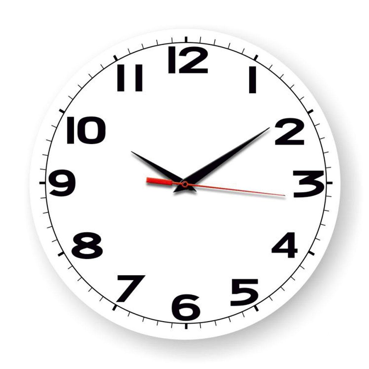 Часы настенные Miolla Дети, цвет: черный, белыйСК011 2905Оригинальные настенные часы круглой формы выполнены из закаленного стекла. Часы имеют три стрелки - часовую, минутную и секундную и циферблат с цифрами. Необычное дизайнерское решение и качество исполнения придутся по вкусу каждому. Диаметр часов: 28 см. Часы работают от 1 батарейки типа АА напряжением 1,5 В.