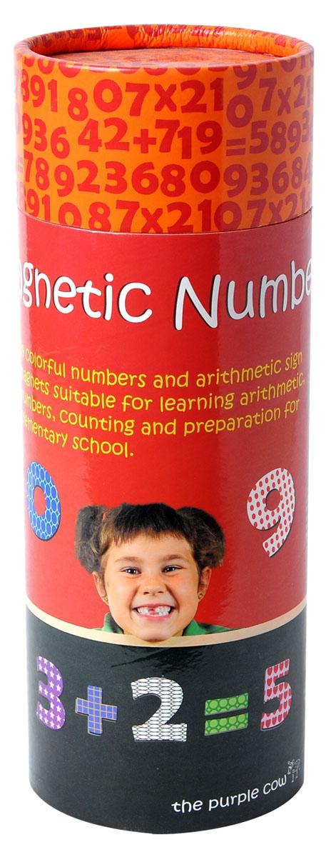 The Purple Cow Обучающая игра Цифры890520Магнитная игра Цифры - это увлекательный игровой набор, предназначенный для детей младшего возраста. С помощью данного набора они смогут научиться распознавать простые числа, считать и совершать простые арифметические операции. В комплект входят 39 полноцветных магнитных элементов, которые можно использовать на различных металлических поверхностях.
