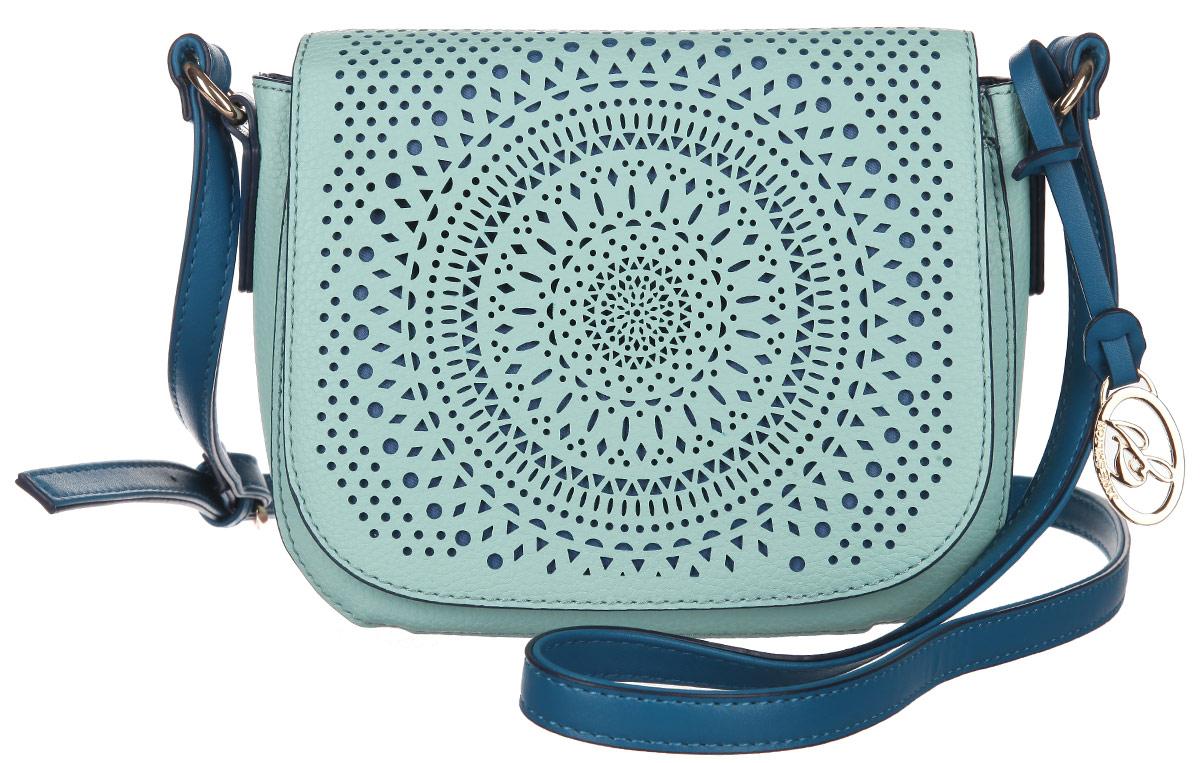 Сумка кросс-боди женская Jane Shilton, цвет: мятный, синий. 20672067mintСтильная женская сумка кросс-боди Jane Shilton, выполненная из искусственной кожи, дополнена фирменным брелоком. Изделие имеет одно основное отделение, которое закрывается на клапан с магнитной кнопкой. Клапан оформлен декоративной перфорацией. Внутри находятся прорезной карман на застежке-молнии и накладной открытый карман. Снаружи, на задней стенке и под клапаном расположены накладные открытые карманы. Модель оснащена регулируемым плечевым ремнем. Роскошная сумка кросс-боди внесет элегантные нотки в ваш образ и подчеркнет ваше отменное чувство стиля.