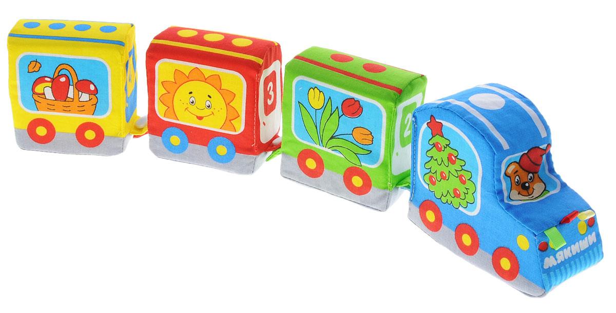 Мягкая игрушка Паровозик: Времена года153Мягкая игрушка Паровозик: Времена года - это яркая игрушка для малышей, выполненная в виде разноцветного паровозика с пищалкой внутри и трех мягких вагонов-кубиков. На каждом вагончике написано время года (весна, лето, осень), а паровозик оформлен зимними рисунками. Вагоны легко отцепляются от паровозика. Игрушка изготовлена из высококачественной ткани и мягкого наполнителя, что делает ее абсолютно безопасной в игре. Удачно подобранный размер, цвет и яркие понятные рисунки развивают мышление, цветовое восприятие, координацию движений и совершенствуют моторику нежных пальчиков малыша.