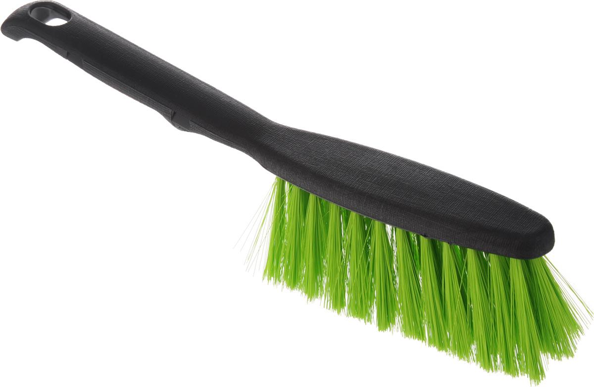 Щетка-сметка Centi Clip, цвет: черный, салатовый, длина 26 см6003_ черный, салатовыйЩетка-сметка Centi Clip, изготовленная из прочного пластика и сложных полимеров, оснащена специальным отверстием для подвешивания. Изделие станет незаменимым помощником в деле удаления пыли и мусора с различных поверхностей. Эластичный жесткий ворс на щетке не оставит от грязи и следа. Длина ворса: 5 см. Размер рабочей части: 13 х 5 х 5 см. Длина щетки: 26 см.