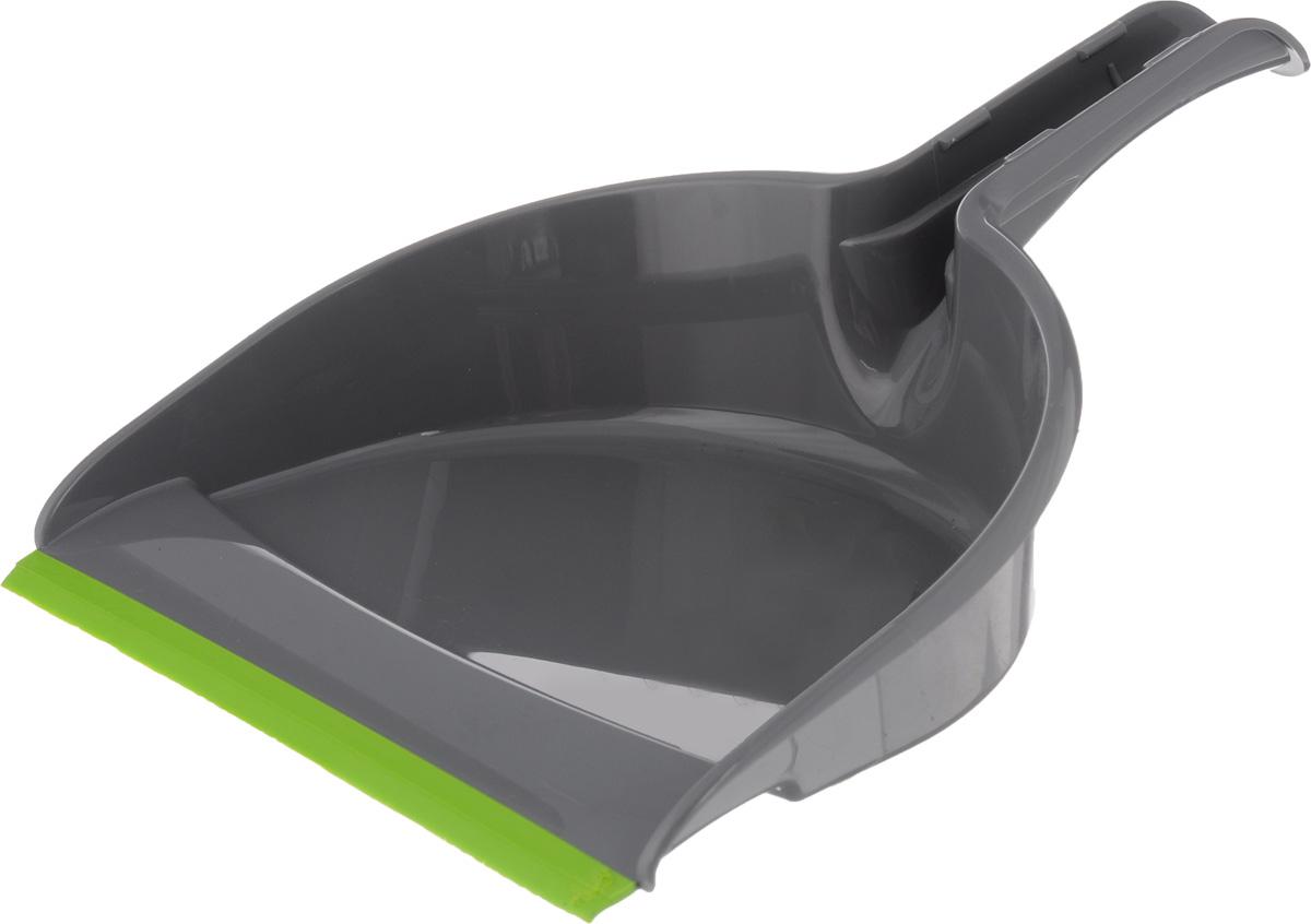 Совок York Компакт, с резиновым краем, цвет: серый, салатовый6105_серыйСовок York Компакт, выполненный из пластика, предназначен для сбора мусора и пыли при уборке помещений. Он оснащен эргономичной ручкой с отверстием для подвешивания. Благодаря резиновому краю совка, в него легко сметать грязь и мусор. Размер рабочей части: 21 х 16 см. Длина ручки: 12 см.