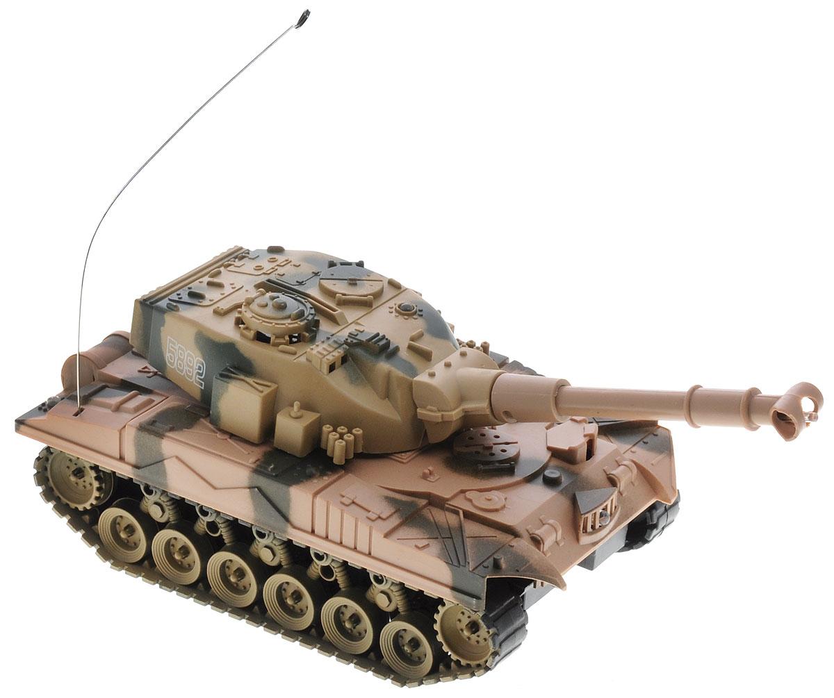 ABtoys Танк на радиоуправлении C-00115 цвет хакиC-00115_хакиТанк на радиоуправлении ABtoys C-00115 - отличный подарок не только ребенку, но и взрослому. Танк на гусеничном ходу изготовлен из прочного пластика. При помощи пульта управления танк может двигаться вперед-назад, поворачивать влево-вправо, разворачиваться на 360 градусов. Ствол танка поднимается и опускается. Танк имеет высокую скорость и обладает световыми эффектами. Танк работает от 4 батареек типа АА (не входят в комплект), для работы пульта управления необходимы 2 батарейки типа АА (не входят в комплект).