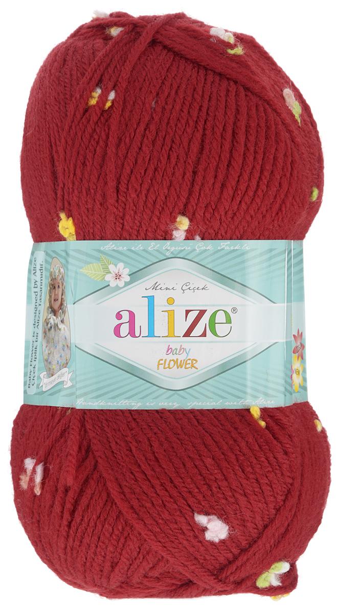 Пряжа для вязания Alize Baby Flower, цвет: красный, розовый, белый (5439), 210 м, 100 г, 5 шт582006_5439Alize Baby Flower - это фантазийная пряжа. Она будет хорошо смотреться на всевозможных детских изделиях (жилетах, платьицах, а также подходит для вязания шапок, шарфов, снудов). Качественно скрученная ровная нить состоит из 94% акрила и 6% полиамида, с пришитыми по всей длине маленькими цветочками. Теплая, мягкая пряжа предназначена для ручного вязания. Рекомендуемый размер спиц: № 3,5-4,5 мм, Рекомендуемый размер крючка: № 2-3 мм. Состав: 94% акрил, 6% полиамид.