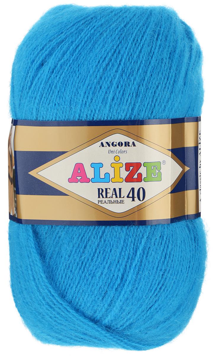 Пряжа для вязания Alize Angora Real, цвет: ярко-голубой (16), 480 м, 100 г, 5 шт551390_16Alize Angora Real - это ровная, тонкая и пушистая пряжа, изготовленная из 60% акрила и 40% шерсти. Нить не вытягивается, достаточно прочная и крепкая.Такая пряжа идеально подойдет для вязания зимних вещей (шарфов, жилетов, пуловеров), с различными ажурными узорами. Вещи, связанные из этой пряжи, хорошо и долго носятся, не выгорают и не линяют. Предназначена для ручного вязания спицами и крючком. Рекомендуемый размер спиц: № 2,5-5 мм, Рекомендованный размер крючка: № 1-4 мм. Состав: 60% акрил, 40% шерсть.