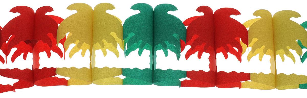 Susy Card Гирлянда Фантазия Пальмы11141496_пальмыГирлянда Susy Card Фантазия. Пальмы выполнена в виде множества пальм из плотной разноцветной бумаги. Гирлянда добавит празднику красок и поможет создать волшебную атмосферу настоящего торжества. Сделайте ваш праздник незабываемым и красивым! Высота пальм - 16, 5 см. Длина гирлянды - 6 м.