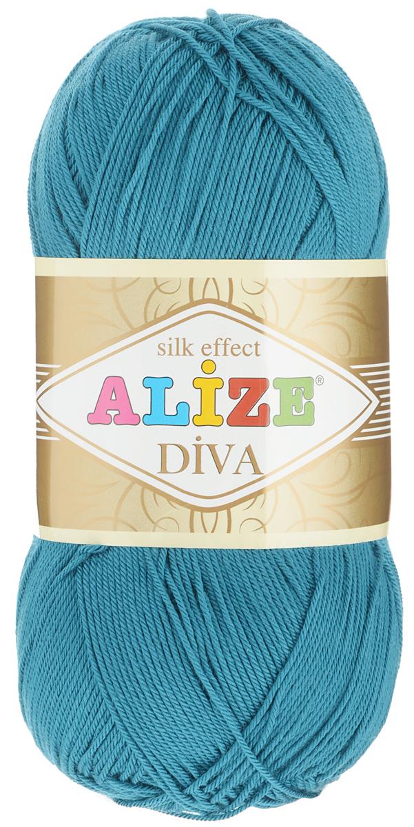 """Пряжа для вязания Alize """"Diva"""", цвет: лазурно-голубой (646), 350 м, 100 г, 5 шт"""