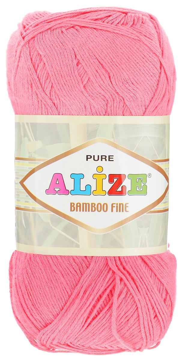 Пряжа для вязания Alize Bamboo Fine, цвет: розовый (560), 440 м, 100 г, 5 шт688988_560Легкая пряжа Alize Bamboo Fine подходит для ручного вязания детских и взрослых вещей. Приятная на ощупь, обладающая высокой гигроскопичностью. Пряжа Alize Bamboo Fine из бамбука подойдет для самых разных вязаных изделий: сарафанов, туник, платьев, легких костюмов, кофт, шалей и накидок. Ее с одинаковым успехом можно использовать и для спиц, и для вязания крючком. В палитре большой выбор ярких цветов и пастельных мягких оттенков. Не стоит с предубеждением относиться к искусственной пряже, ведь она обладает целым рядом преимуществ. За изделиями из пряжи Alize Bamboo Fine проще ухаживать, они не подвержены скатыванию, не вызывают аллергии, не собирают пыль, не линяют и не оставляют ворсинок на другой одежде. Рекомендованный размер спиц: № 2,5-3,5 мм, Рекомендованный размер крючка: № 1-3 мм. Состав: 100% бамбук.
