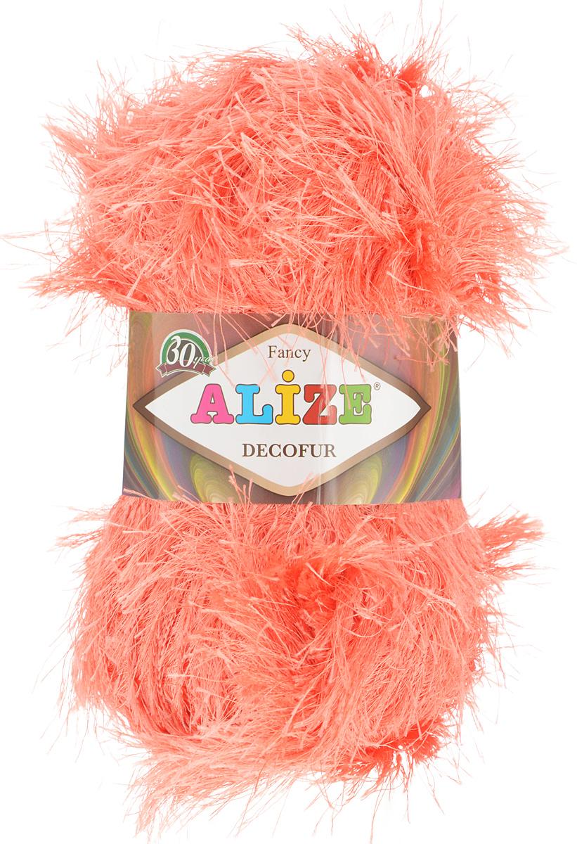 Пряжа для вязания Alize Decofur, цвет: коралловый (154), 110 м, 100 г, 5 шт364128_154Фантазийная пряжа-травка Decofur изготовлена из полиэстера. Предназначена для ручного вязания самостоятельных пушистых изделий и идеально подходит для отделки. Это могут быть нарядные кофточки, куртки, накидки, шарфы и шапки, шали, карнавальные костюмы, предметы домашнего интерьера, игрушки. Нить равномерной толщины с ворсинками чередующейся длины 1,5 см и 3 см. Рекомендуемый размер спиц: № 6-8 мм. Рекомендуемый размер крючка: № 3-4 мм. Состав: 100% полиэстер.