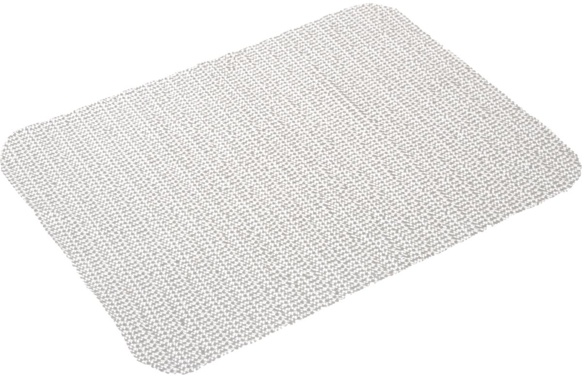 Салфетка противоскользящая Eva, цвет: серый, 40 х 30 смЕ793_серыйСалфетка Eva, изготовленная из ПВХ, - замечательное приобретение для хозяек. С помощью данной салфетки предметы не скользят по стеклу, в ящиках, а кроме того, оставляют поверхность чистой.