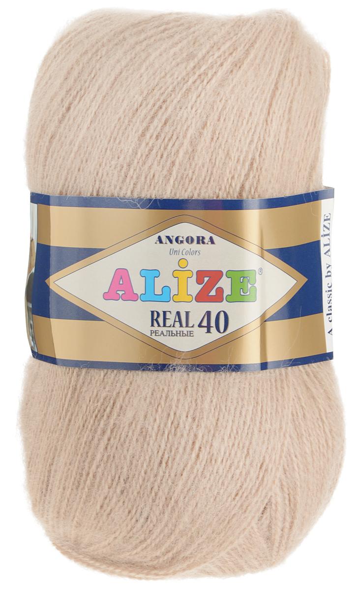 Пряжа для вязания Alize Angora Real, цвет: бежевый (05), 480 м, 100 г, 5 шт551390_05Alize Angora Real - это ровная, тонкая и пушистая пряжа, изготовленная из 60% акрила и 40% шерсти. Нить не вытягивается, достаточно прочная и крепкая.Такая пряжа идеально подойдет для вязания зимних вещей (шарфов, жилетов, пуловеров), с различными ажурными узорами. Вещи, связанные из этой пряжи, хорошо и долго носятся, не выгорают и не линяют. Предназначена для ручного вязания спицами и крючком. Рекомендуемый размер спиц: № 2,5-5 мм, Рекомендованный размер крючка: № 1-4 мм. Состав: 60% акрил, 40% шерсть.