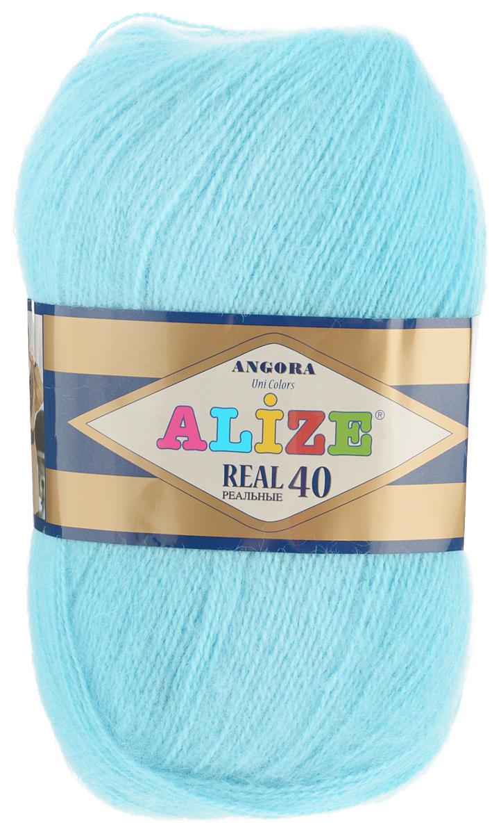 Пряжа для вязания Alize Angora Real, цвет: светло-голубой (346), 480 м, 100 г, 5 шт551390_346Alize Angora Real - это ровная, тонкая и пушистая пряжа, изготовленная из 60% акрила и 40% шерсти. Нить не вытягивается, достаточно прочная и крепкая.Такая пряжа идеально подойдет для вязания зимних вещей (шарфов, жилетов, пуловеров), с различными ажурными узорами. Вещи, связанные из этой пряжи, хорошо и долго носятся, не выгорают и не линяют. Предназначена для ручного вязания спицами и крючком. Рекомендуемый размер спиц: № 2,5-5 мм, Рекомендованный размер крючка: № 1-4 мм. Состав: 60% акрил, 40% шерсть.