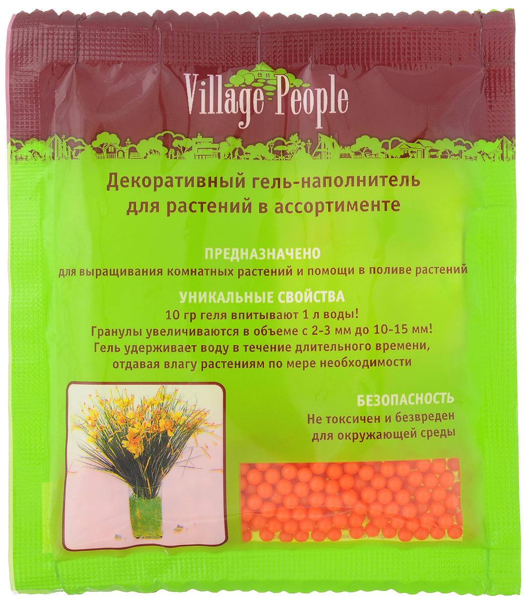 Гель-наполнитель декоративный Village People, для растений, цвет: оранжевый, 10 г66922_оранжевыйДекоративный гель-наполнитель Village People предназначен для выращивания комнатных растений и помощи в поливе растений. Гель не токсичен и безвреден для окружающей среды. Уникальные свойства геля: 10 г геля впитывают 1 литр воды. Гранулы увеличиваются в объеме с 2-3 мм до 10-15 мм. Гель удерживает воду в течение длительного времени, отдавая влагу растениям по мере необходимости. Вес: 10 г. Размер гранул: 2-3 мм.