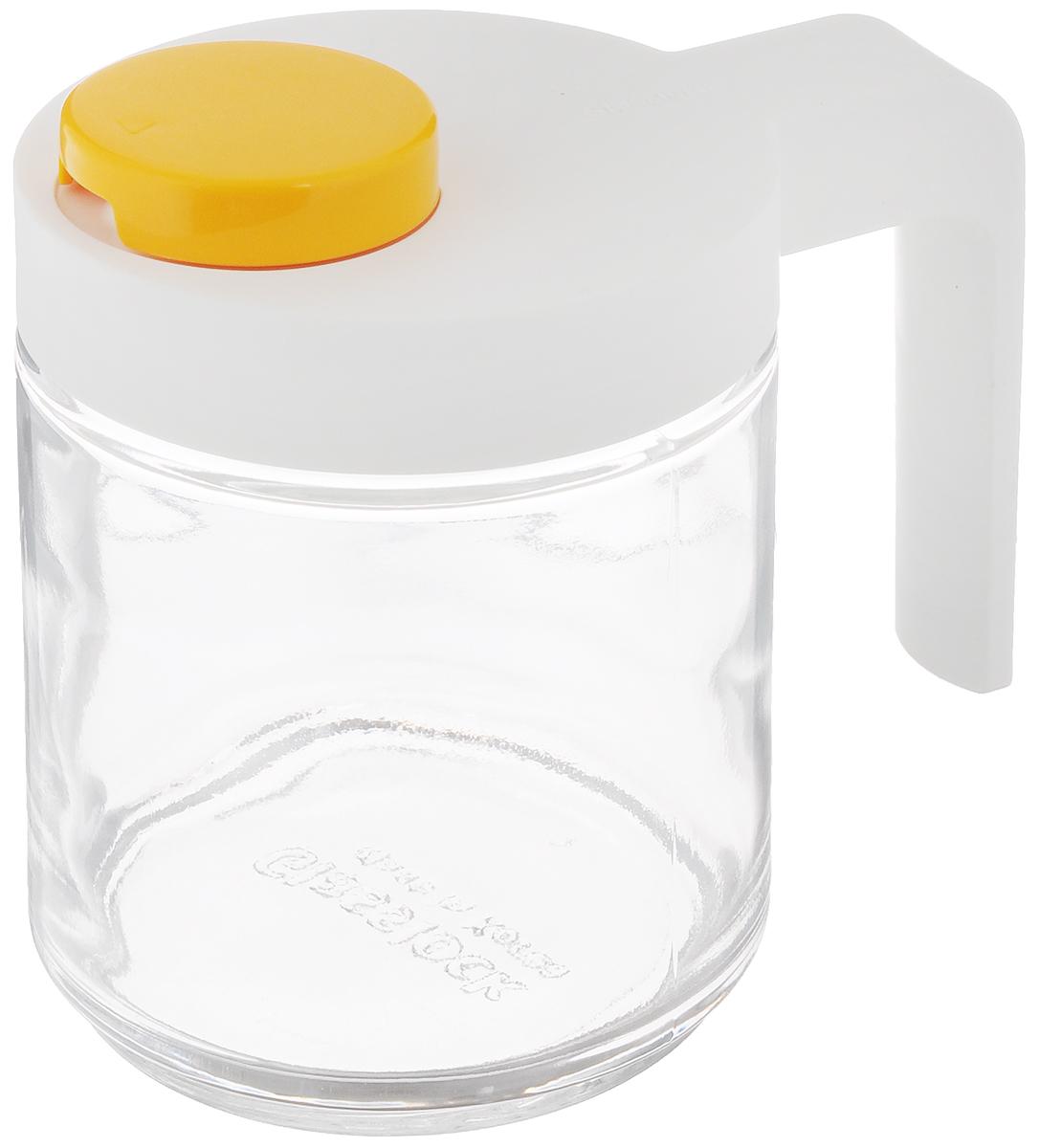 Контейнер для масла Glasslock, 400 млIP-607SКонтейнер Glasslock, выполненный из кварцевого стекла, предназначен для хранения масла и соусов. Кварцевое стекло не окрашивается, не впитывает запахи и остатки продуктов, не тускнеет со временем даже при длительном хранении продуктов, и всегда остается идеально прозрачным. Изделие имеет закручивающуюся крышку-слайдер, обеспечивающую максимум гигиеничности и удобства. Крышка оснащена специальным носиком для предотвращения проливания жидкостей и эргономичной ручкой. Носик удобен для выливания жидкости и циркуляции воздуха. Форма контейнера идеально подходит для хранения в дверце холодильника или в морозильной камере. Можно мыть в посудомоечной машине и хранить в холодильнике. Запрещено использование в СВЧ и духовых печах. Диаметр по верхнему краю: 7,5 см. Диаметр основания: 7,5 см. Высота (с учетом крышки): 11,5 см. Ширина (с учетом ручки): 12 см.
