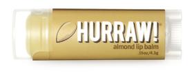 Hurraw! Бальзам для губ Almond Lip Balm, 4,3 г005007Бальзамы для губ Hurraw! производятся в США на небольшом домашнем производстве. Идея создателей бренда заключалась в том, чтобы разработать поистине идеальный бальзам для губ: натуральный, вегетарианский, произведенный из органических ингредиентов высочайшего качества и не содержащий вредных веществ и искусственных компонентов. Все бальзамы Hurraw! производятся из чистого органического масла, которое добывается путем холодного отжима, что позволяет всем веществам сохранять свои полезные свойства. Помимо этого, приятно знать, что продукция марки Hurraw! не содержит ингредиентов животного происхождения и никогда не тестируется на животных. А еще бальзамы разливаются по флакончикам вручную!