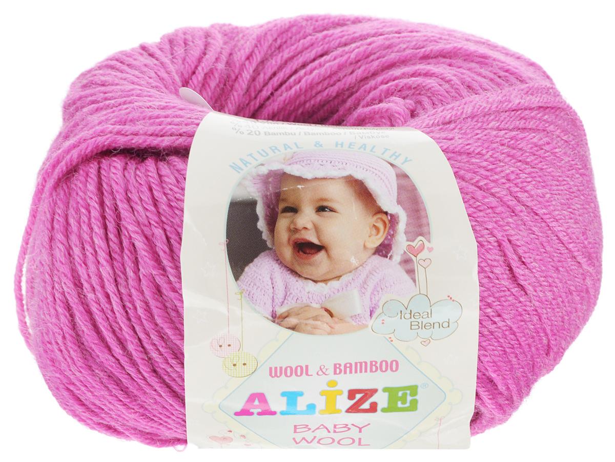 Пряжа для вязания Alize Baby Wool, цвет: розовый (489), 175 м, 50 г, 10 шт686501_489Детская пряжа для вязания Alize Baby Wool изготовлена из очень мягкой и высококачественной натуральной шерсти и бамбука. Из пряжи Baby Wool получается тонкий, но очень теплый трикотаж для ребенка. Акрил в составе нитей допускает легкую машинную стирку вещей. Цветовая палитра включает в себя комбинации, которые подходят как для мальчиков, так и для девочек. Рекомендуемый размер спиц: № 2,5-4 мм, Рекомендуемый размер крючка: № 1-3 мм. Комплектация: 10 мотков. Состав: 40% шерсть, 40% акрил, 20% бамбук.