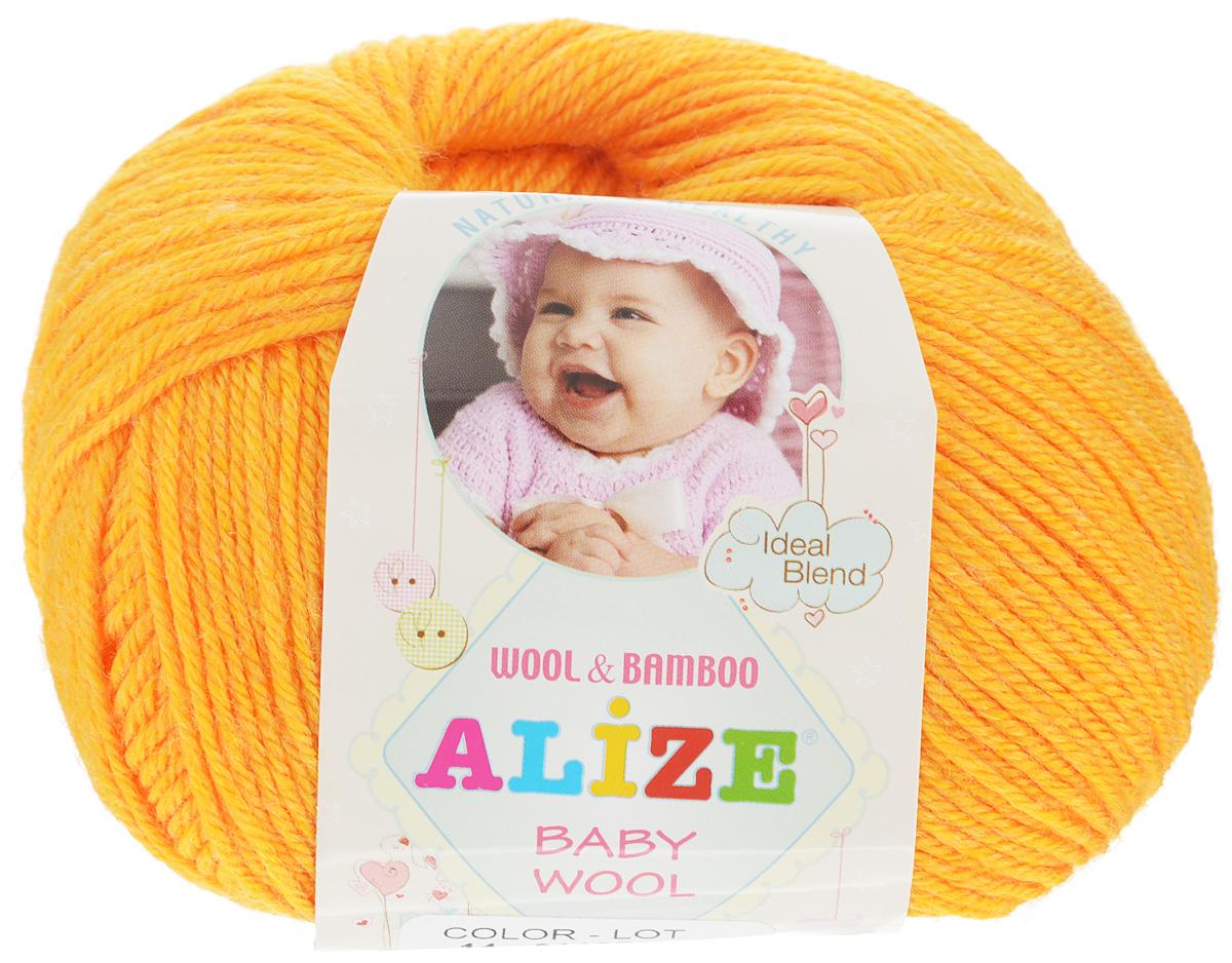 Пряжа для вязания Alize Baby Wool, цвет: оранжевый (14), 175 м, 50 г, 10 шт686501_14Детская пряжа для вязания Alize Baby Wool изготовлена из очень мягкой и высококачественной натуральной шерсти и бамбука. Из пряжи Baby Wool получается тонкий, но очень теплый трикотаж для ребенка. Акрил в составе нитей допускает легкую машинную стирку вещей. Цветовая палитра включает в себя комбинации, которые подходят как для мальчиков, так и для девочек. Рекомендуемый размер спиц: № 2,5-4 мм, Рекомендуемый размер крючка: № 1-3 мм. Комплектация: 10 мотков. Состав: 40% шерсть, 40% акрил, 20% бамбук.