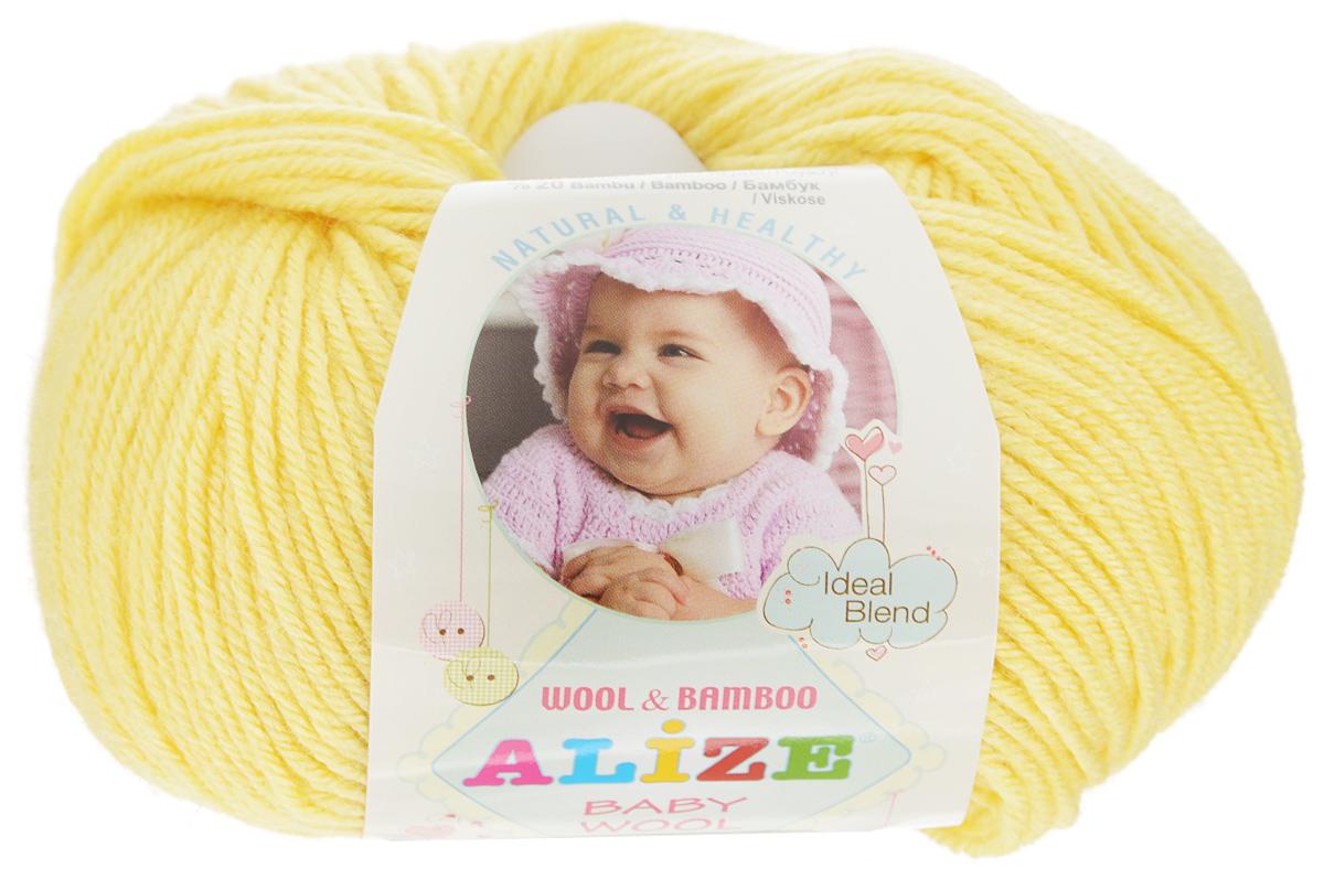 Пряжа для вязания Alize Baby Wool, цвет: светло-желтый (187), 175 м, 50 г, 10 шт686501_187Детская пряжа для вязания Alize Baby Wool изготовлена из очень мягкой и высококачественной натуральной шерсти и бамбука. Из пряжи Baby Wool получается тонкий, но очень теплый трикотаж для ребенка. Акрил в составе нитей допускает легкую машинную стирку вещей. Цветовая палитра включает в себя комбинации, которые подходят как для мальчиков, так и для девочек. Рекомендуемый размер спиц: №2,5-4 мм, Рекомендуемый размер крючка: №1-3 мм. Комплектация: 10 мотков. Состав: 40% шерсть, 40% акрил, 20% бамбук.