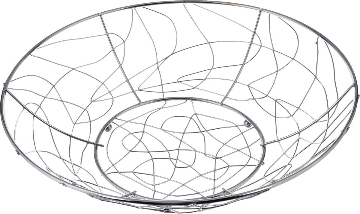 Фруктовница Olaff, круглая, диаметр 32 смYSH-1110Оригинальная фруктовница Olaff, изготовленная из нержавеющей стали с хромированной поверхностью, идеально подходит для хранения и красивой сервировки любых фруктов. Современный дизайн фруктовницы идеально впишется в интерьер вашей кухни. Изделие рекомендуется мыть вручную с применением любых неабразивных моющих средств. Не рекомендуется использование металлических щеток для чистки. Диаметр (по верхнему краю): 32 см.