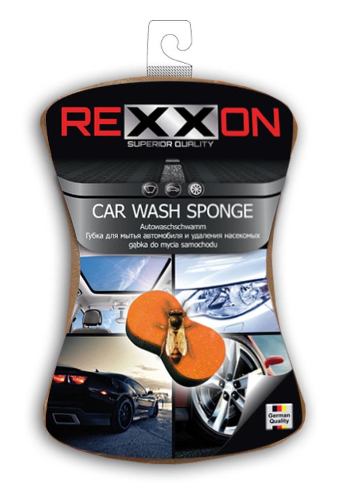 Губка для автомобиля Rexxon, двухслойная, 190 х 150 х 60 мм