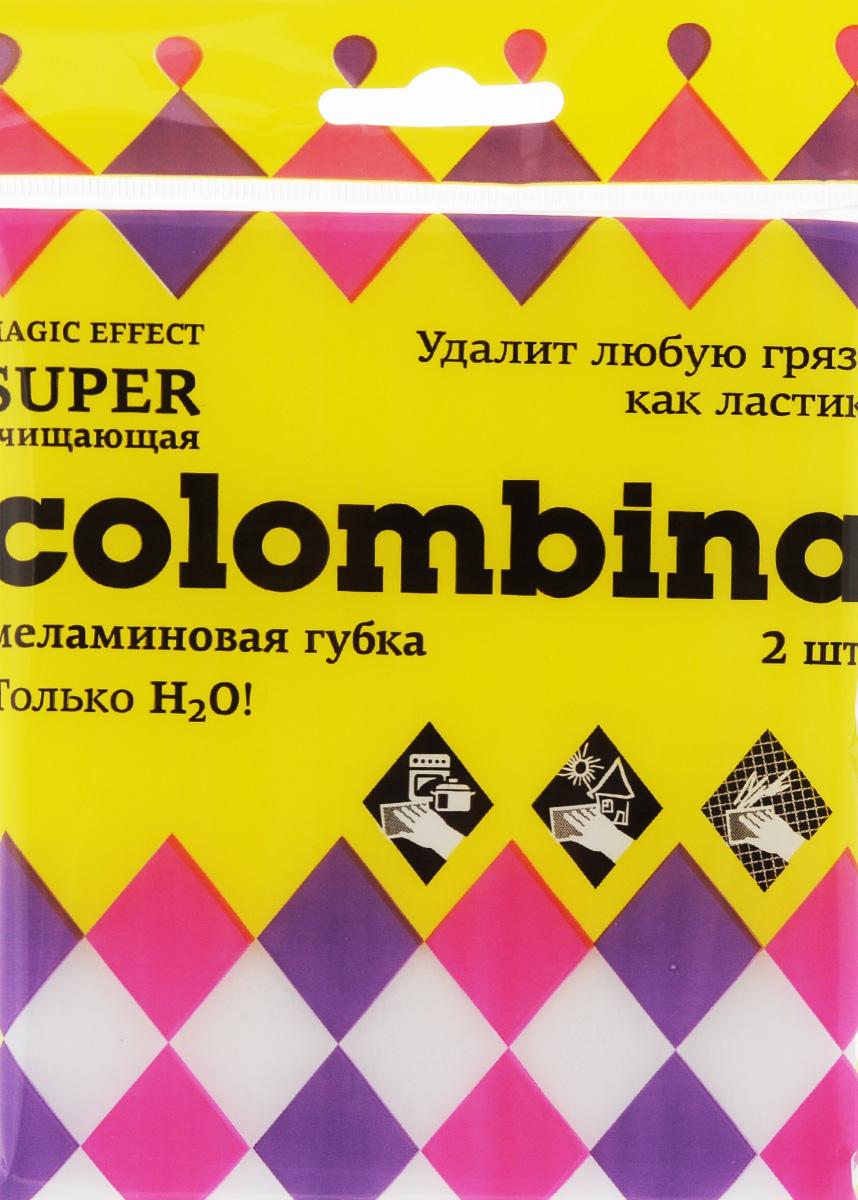 Губка Colombina, меламиновая, 2 штК.1.3Губки Colombina выполнены из меламина. Они легко удаляют следы маркера, чернил, карандашей со стен и других твердых поверхностей, а также жир, известковый налет, въевшуюся грязь с минимальными усилиями без вреда для здоровья и применения химических средств. Руководство по применению: 1. Часть губки можно отрезать. 2. Намочить губку водой, слегка отжать. 3. Протрите загрязненное место, губка работает как канцелярский ластик, захватывает грязь благодаря своей особо структуре и стирает ее. 4. Для работы используйте чистую поверхность губки, при необходимости промойте ее водой. Внимание! При работе на окрашенных, блестящих или лакированных поверхностях предварительно проверьте губку на незаметной части поверхности. Не применяйте губки для чистки поверхности, окрашенной водоэмульсионной краской. Не использовать горячую воду и средства, содержащие хлор. Размер губки: 10,5 х 6 х 2,5 см.