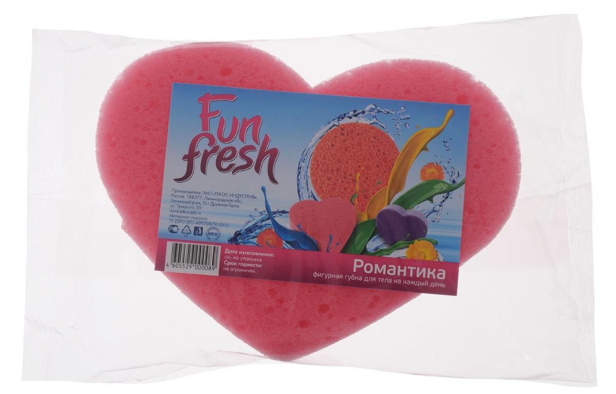 Губка для тела Fun Fresh Романтика, 16 х 11 х 4 см1. 3Губка для тела Fun Fresh Романтика изготовлена из мягкого поролона. Идеально подходит для нежной, чувствительной кожи. Пористая структура губки создает воздушную пену даже при небольшом количестве геля для душа.