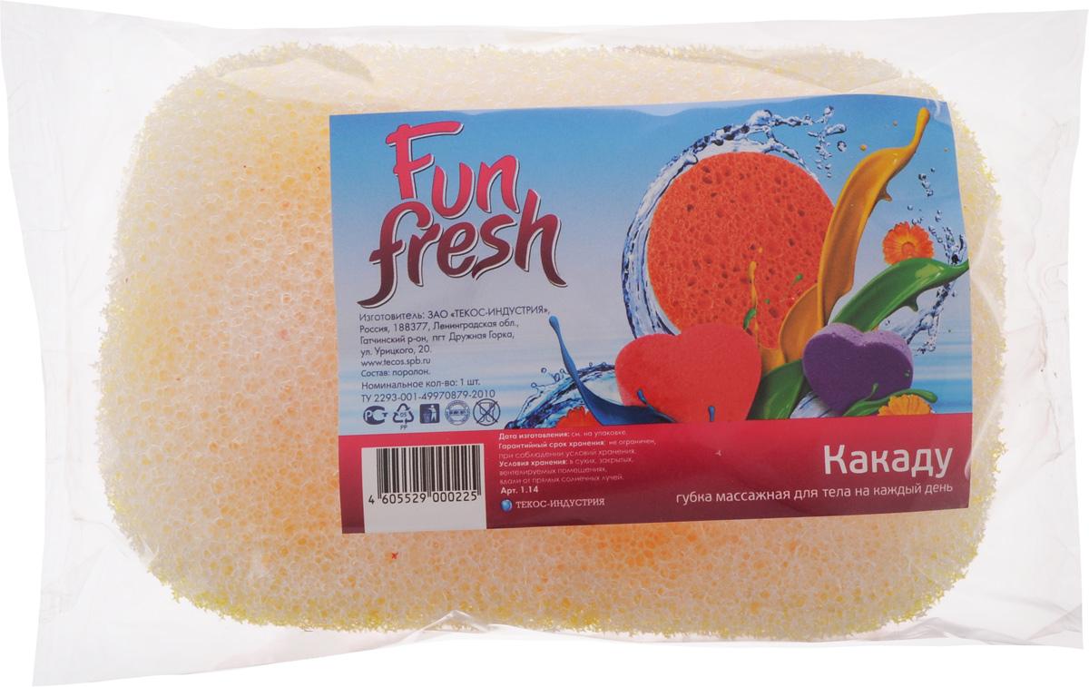 Губка для тела Fun Fresh Какаду, 13,5 х 9 х 5 см1.14Губка для тела Fun Fresh Романтика изготовлена из жесткого поролона. Массажный слой усиливает местное кровообращение, способствует улучшению внешнего вида кожи.