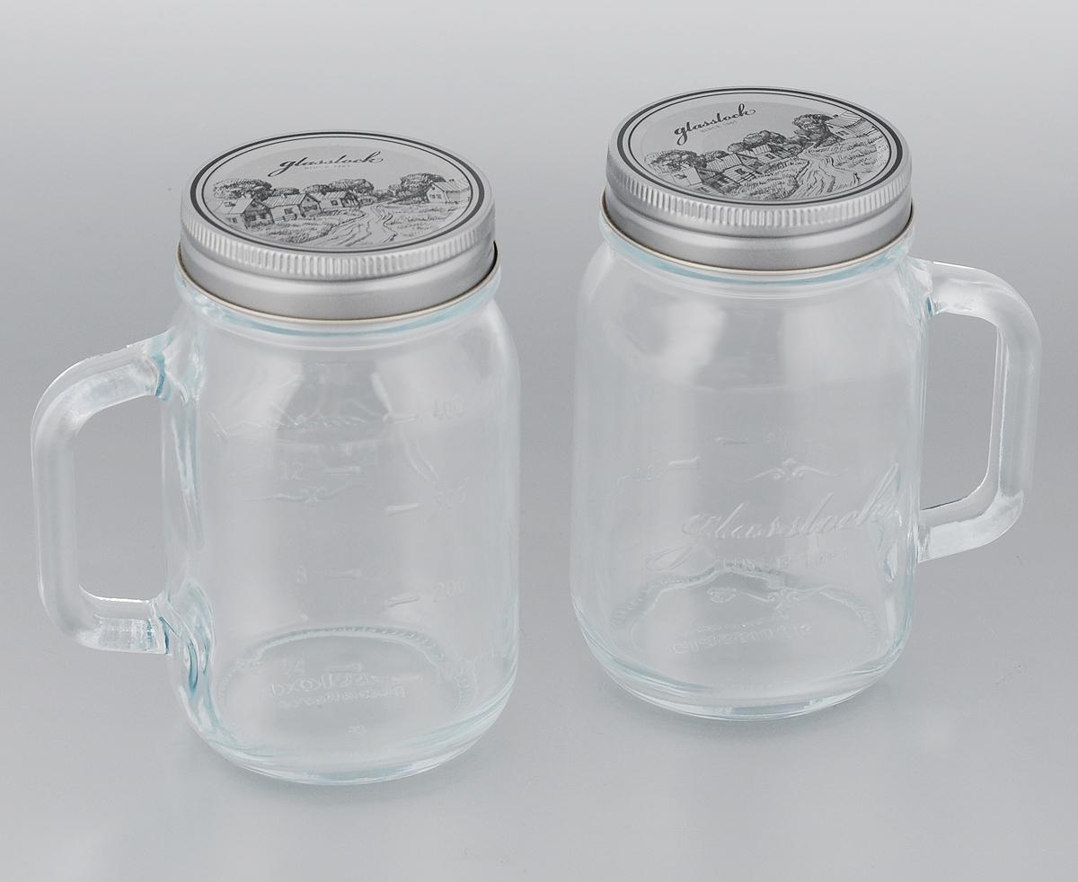 Набор банок для сыпучих продуктов Glasslock, 500 мл, 2 штIG-753Банки для хранения Glasslock, изготовленные из прочного прозрачного стекла, оснащены металлическими крышками и удобными ручками. На стенках имеется мерная шкала. Изделия подходят для специй, чая, кофе, круп, сахара и соли и многого другого. Такие банки стильно дополнят интерьер кухни и помогут эффективно организовать пространство. Диаметр банки (по верхнему краю): 7 см. Диаметр основания банки: 6,5 см. Высота банки (с учетом крышки): 13,5 см. Ширина банки (с учетом ручки): 11 см.