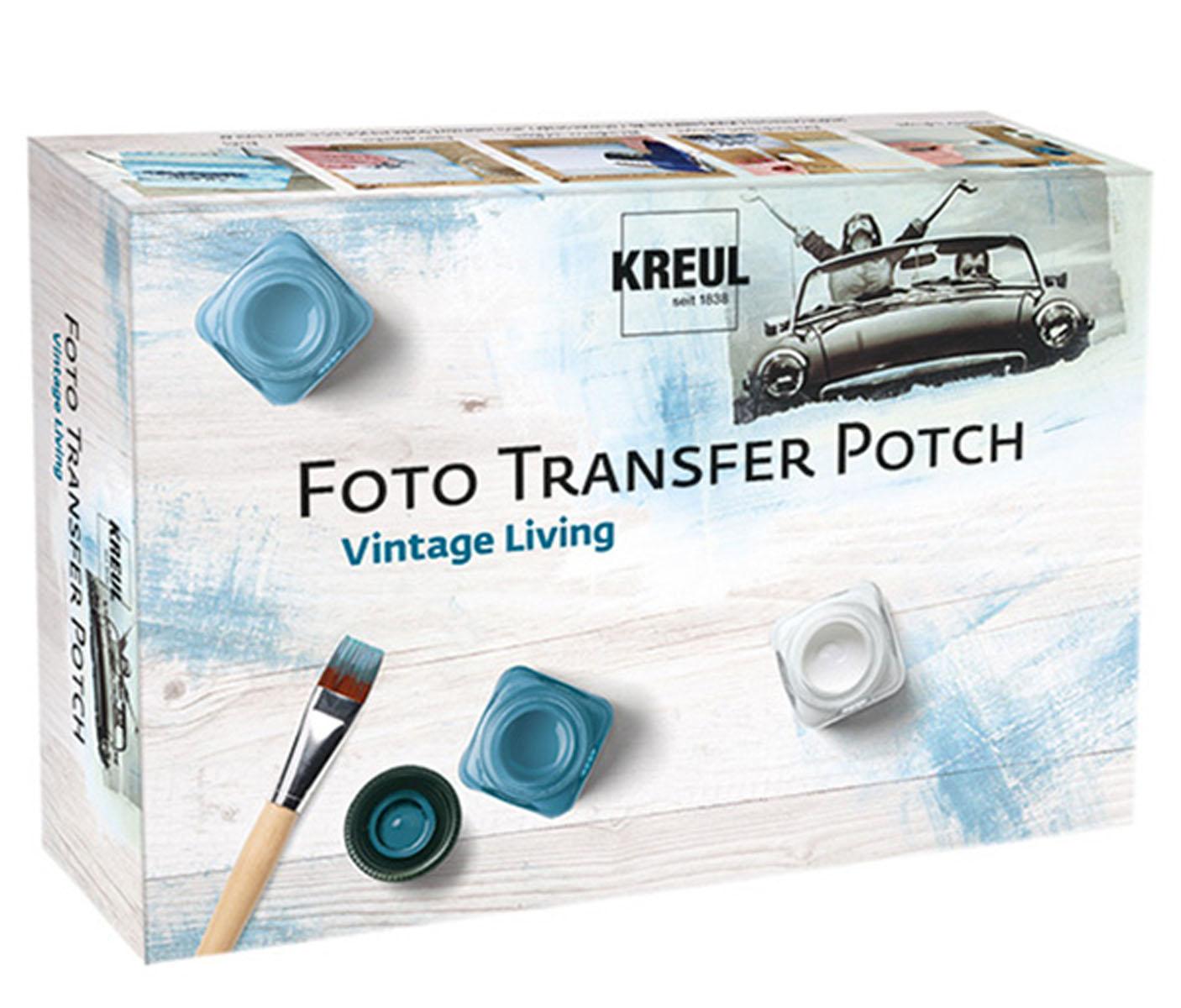 Набор-трансфер для творчества Kreul Potch. KR-49990KR-49990Для переноса фотографий, статей из газет, изображений из журналов, распечатанных на лазерном принтере практически на любую поверхность, в том числе на все виды тканей. В набор входит 1 Фото Трансфер POTCH 50 мл, 1 лак глянцевый на водной основе 50 мл, 1 синтетическая кисть, 1 скребок, инструкция.