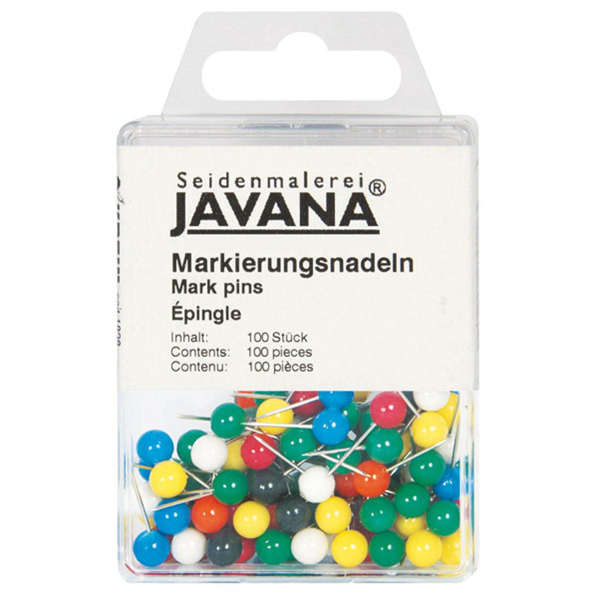 Булавка Kreul Javana, с круглой головкойKR-815100Предназначены для закрепления на раме тканей, на которых будет производиться роспись