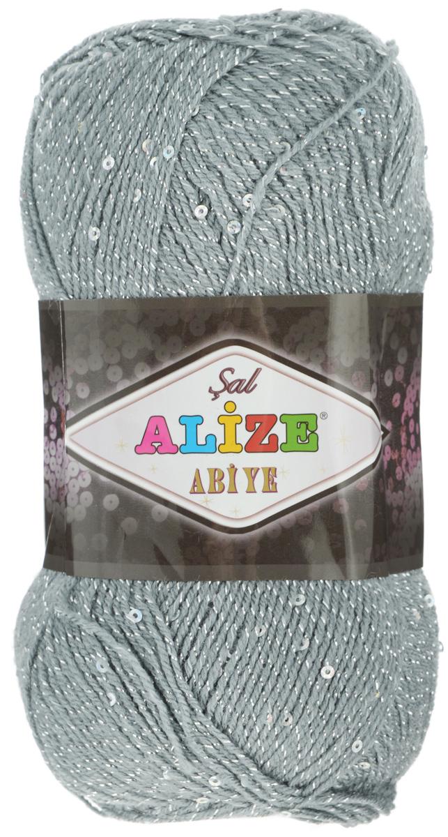 Пряжа для вязания Alize Sal Abiye, цвет: серый (87), 410 м, 100 г, 5 шт372113_87Пряжа Alize Sal Abiye - это фантазийная акриловая пряжа с добавлением в тон нити пайеток и металлика. Такая нарядная пряжа подходит для вязания элегантных вечерних нарядов, сумочек, кошельков, украшений и прочего. Рекомендованный размер спиц: № 2-4 мм, Рекомендованный размер крючка: № 1-4 мм. Состав: 80% акрил, 10% полиэстер, 5% пайетки, 5% металлизированная нить.