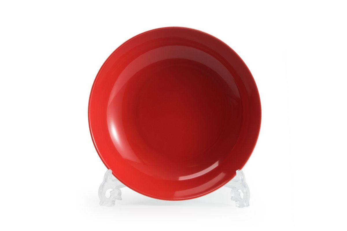 Тарелка глубокая La Rose des Sables Putoisage Rouge, диаметр 23 см550221 3067Можно использовать в СВЧ и посудомоечной машине.
