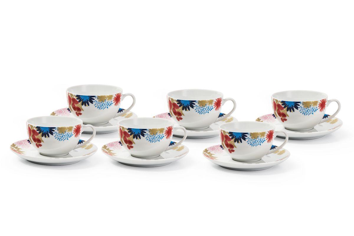 Набор чайных пар La Rose des Sables Ilionor, 220 мл, 6 шт619503 2227Можно использовать в СВЧ и посудомоечной машине.