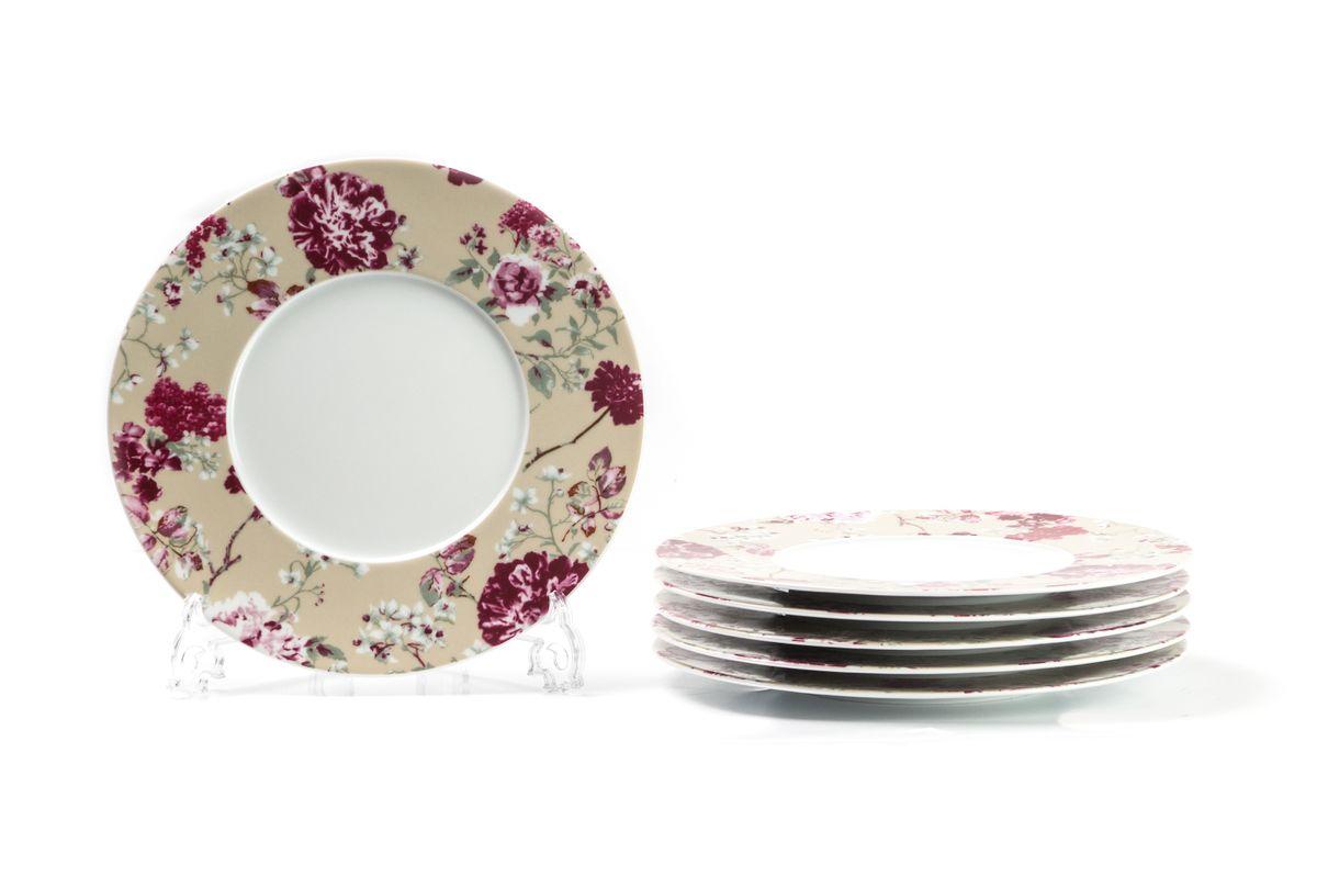Набор десертных тарелок La Rose des Sables Liberty, диаметр 23 см, 6 шт839001 2150Можно использовать в СВЧ и посудомоечной машине.